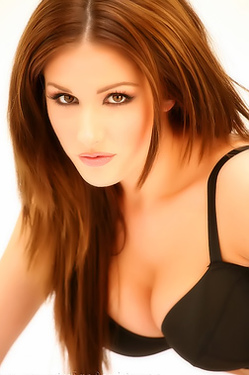 Lucy Pinder In Black Lingerie