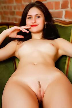 Skinny Chick Megan Elle With Hot Smile