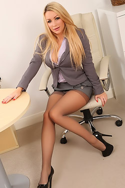 Busty Office Babe Penny Undressing