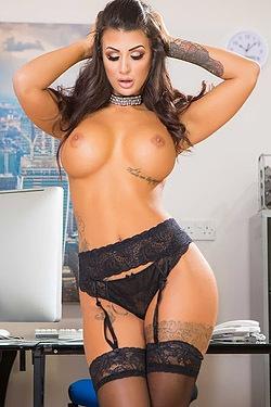 Susy Gala Busty Secretary Strips