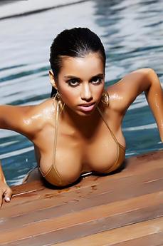 Lupe Fuentes Gold Bikini